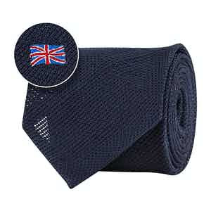 Blue Silk Gauze British Flag Tie