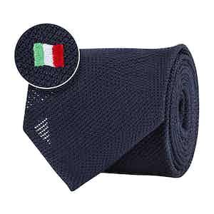 Blue Silk Gauze Italian Flag Tie