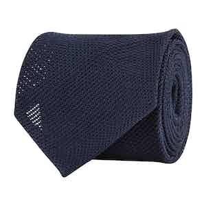 Blue Silk Gauze Tie
