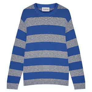 Blue Rugby Striped Cotton Pullover