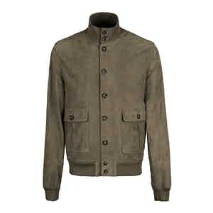 Trout Grey Light Suede Unlined Valstarino Jacket