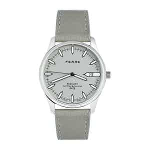 Pebble Grey Stainless Steel Goat Leather Strap Redcliffe Date Watch