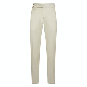 White Wool Classic Trousers
