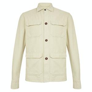 Beige Rustic Cotton Overshirt
