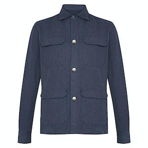 Navy Rustic Cotton Overshirt