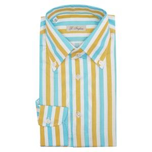 Yellow Cotton Exclusive Stripe Tiffany Shirt