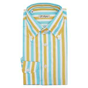 Yellow Cotton Exclusive Stripe Tiffany Shirt