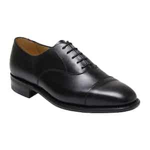 Black Calf Leather Vardy Cap Oxford Shoe