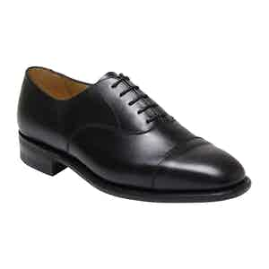 Black Calf Leather Vardy Cap Oxford Shoe