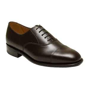 Dark Brown Calf Leather Vardy Cap Oxford Shoe