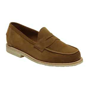 Tobacco Reverse Unlined Butt Seam Edwin Penny Loafer