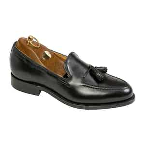Black Calf Leather Finchley Tassel Loafer