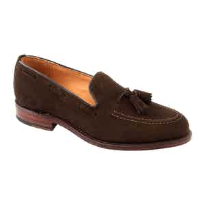Chocolate Suede Finchley Tassel Loafer