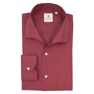 Bordeaux Linen Capri Collar Shirt