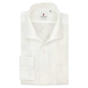 White Linen Capri Collar Shirt