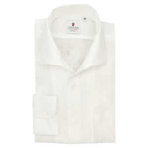 White Linen Capri Collar Shirt