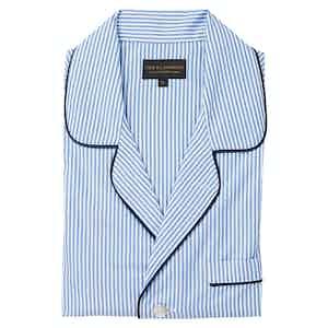 Blue Cotton Stripe Pyjama Set