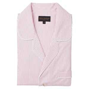 Pink Cotton Stripe Pyjama Set