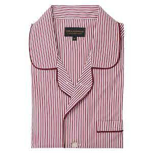 Red Coton Stripe Pyjama Set