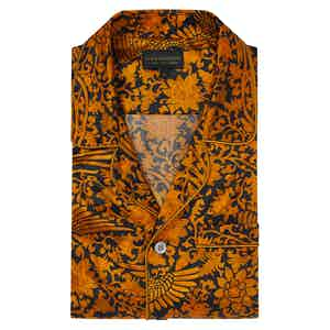Gold Cotton and Silk Phoenix Pyjama Set