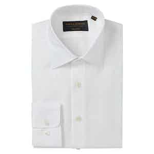 White Linen Soft Collar Classic Shirt