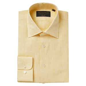 Yellow Linen Soft Collar Classic Shirt