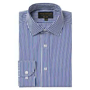 Blue Cotton Striped Soft Collar Classic Shirt