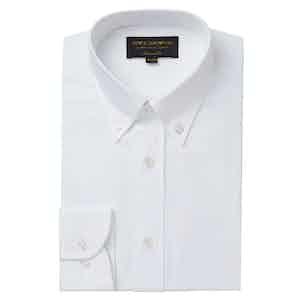 White Tailored Oxford Button Down Shirt