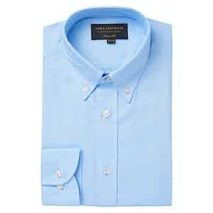 Blue Tailored Oxford Button Down Shirt