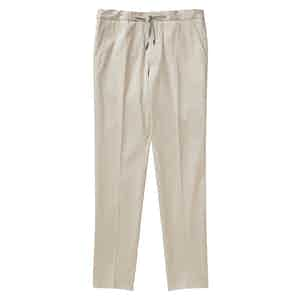 Stone Cotton Twill Drawstring Trousers