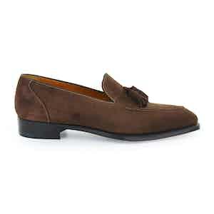 Mink Suede Corniche Tassel Loafers