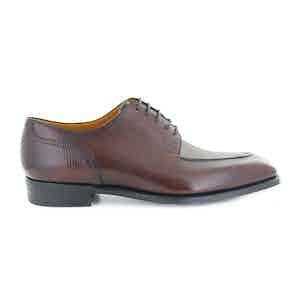 Oak Hatch Grain Leather Stamford Split Toe Derby Shoes