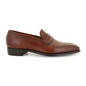 Oak Hatch Grain Leather Crompton Shoes