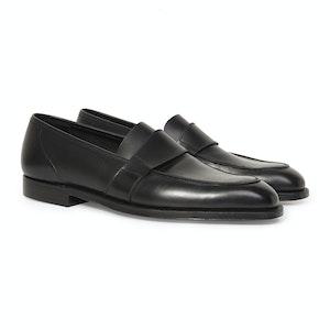Black Calf Leather Owen Loafer