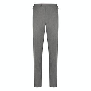 Grey Wool Hopsack Trousers