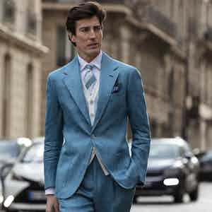 Light Blue Linen Sport Jacket