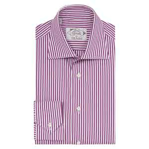 Pink Cotton Raspberry Striped Shirt