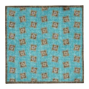 Turquoise Cotton Pocket Square