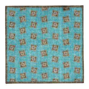Turquoise Cotton Pocket Square