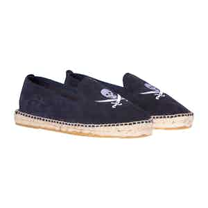 Patriot Blue Palm Springs Skull Suede Espadrilles