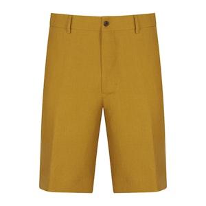 Mustard Linen Unlined Beach Shorts