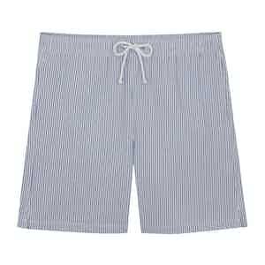 Blue Seersucker Swim Shorts