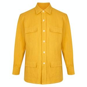 Yellow Linen Safari Overshirt
