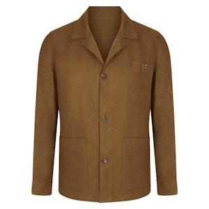 Dark Tobacco Linen Work Jacket