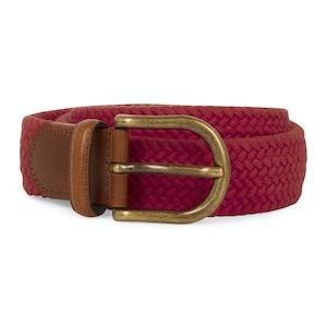 Red Elastic Woven 35mm Belt