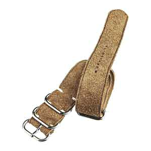 Tan Reversed Suede Unlined Nato Watch Strap