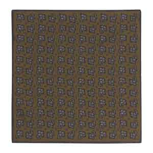 Brown Silk Paisley Double-Sided Pocket Square