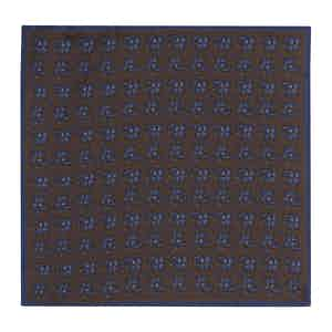 Golden Brown Silk Paisley Double-Sided Pocket Square