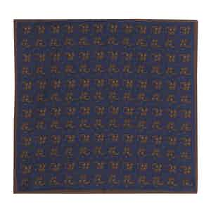Navy Silk Double-Sided Pocket Square