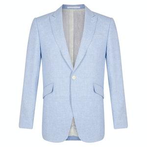 Evering Sky Blue Linen Newport Jacket